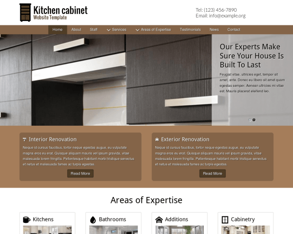 Kitchen Cabinet Website Template