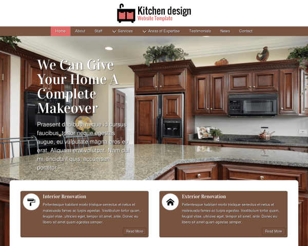 Kitchen Design Website Template