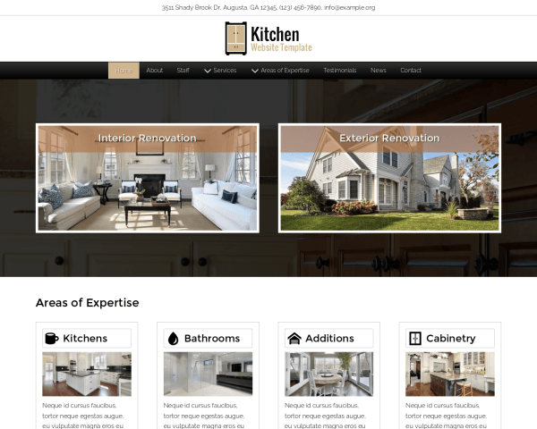 image representation of the Kitchen Website Template