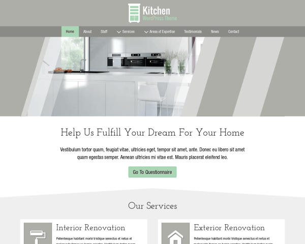 Kitchen Wordpress Theme
