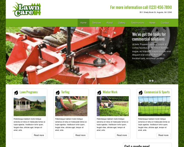 Lawn Care WordPress theme thumbnail (desktop screenshot)