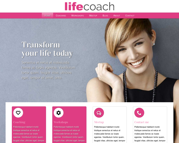 laptop screenshot WordPress theme 'Life Coach WordPress theme'