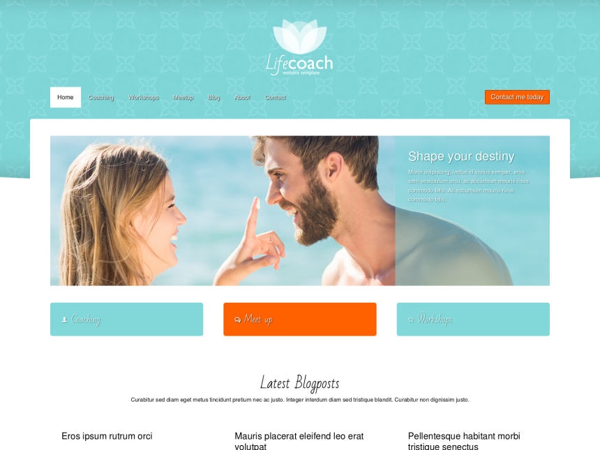 life coach website template life coach theme