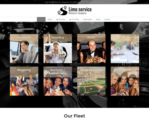 image representation of the Limo Service Website Template