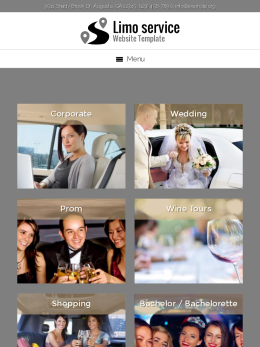 tablet screenshot WordPress theme 'Limo Service Website Template'
