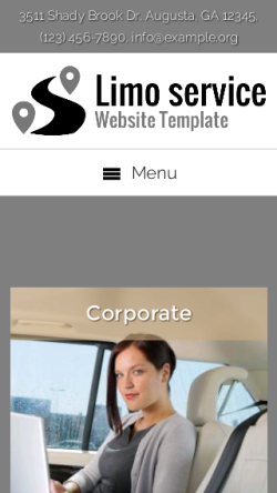 mobile phone screenshot WordPress theme 'Limo Service Website Template'
