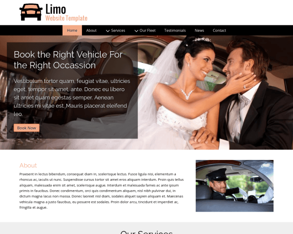 image representation of the Limo Website Template