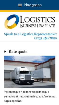 mobile phone screenshot WordPress theme 'Logistics Wordpress theme'