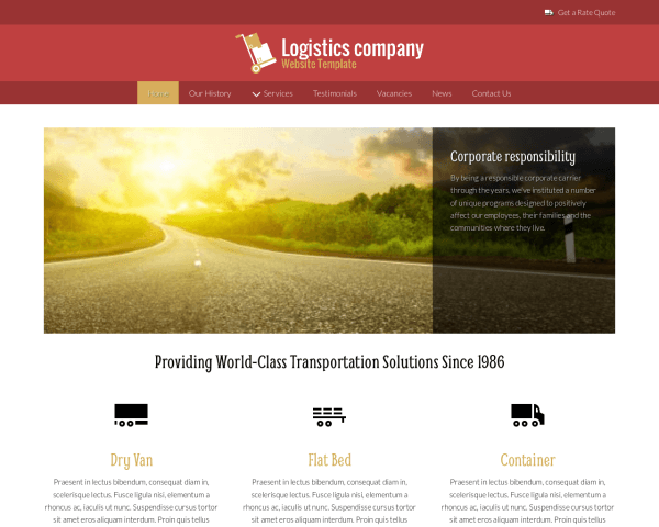 Logistics Company Website Template