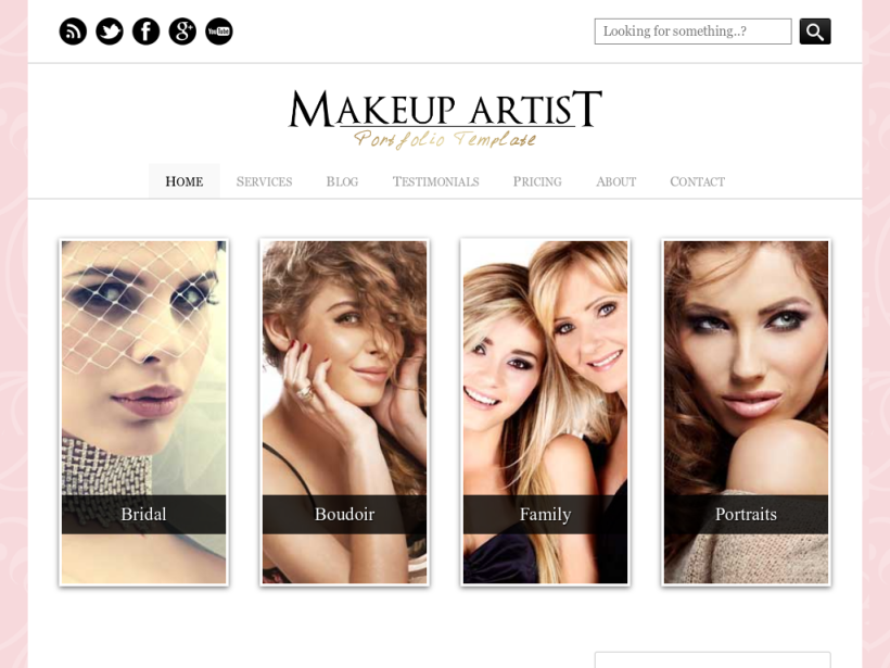 Makeup Artist Template Wordpress - Mugeek Vidalondon