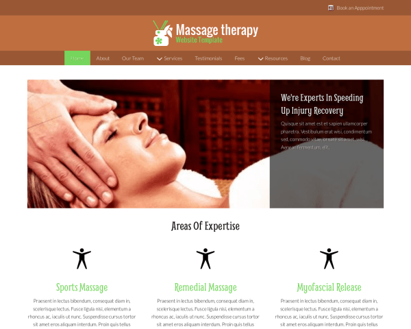 Massage Therapy Website Template