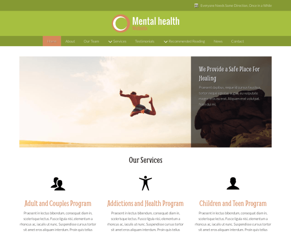 image representation of the Mental Health Website