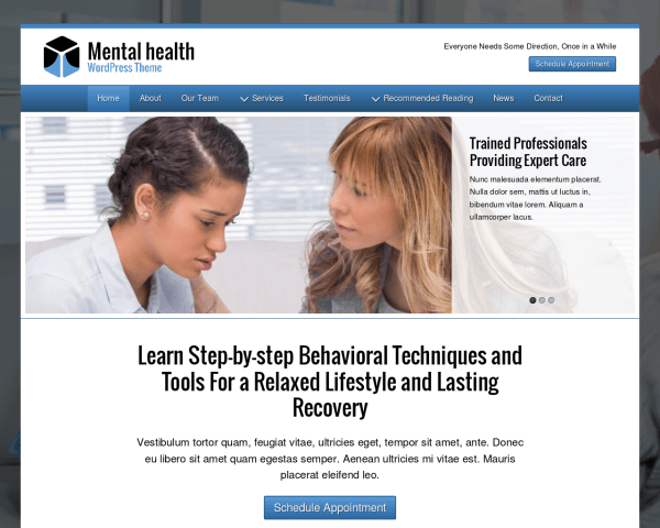 image representation of the Mental Health Wordpress Theme