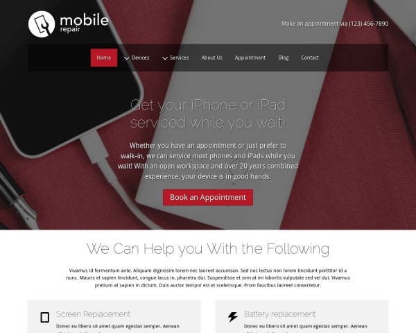 Mobile Repair Wordpress Theme