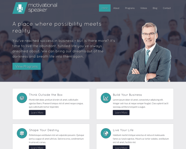 Motivational Speaker Website Template