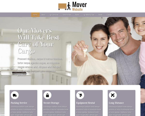 image representation of the Mover Website