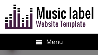 landscape iphone mobile of WordPress theme 'Music Label Website Template'