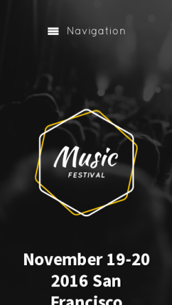 mobile phone screenshot WordPress theme 'Music Festival WordPress Theme'