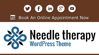 landscape iphone mobile of WordPress theme 'Needle Therapy Wordpress Theme'