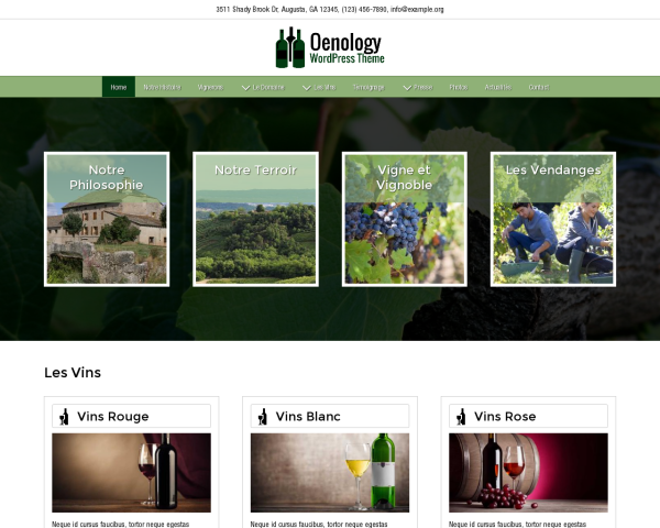 Oenology WordPress Theme thumbnail (desktop screenshot)