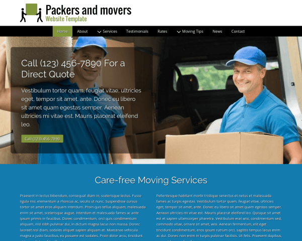 image representation of the Packers And Movers Website Template