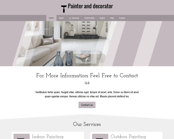 Painter And Decorator Website Template