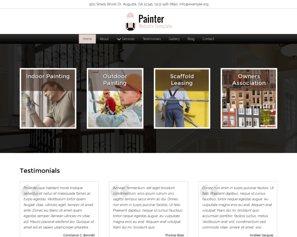 image representation of the Painter Website Template