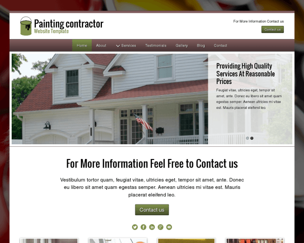 image representation of the Painting Contractor Website Template