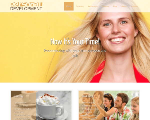 Personal Development Wordpress Theme