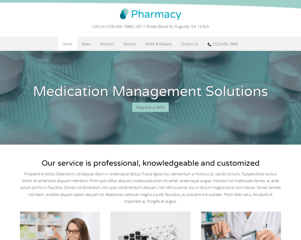 Pharmacy WordPress Theme thumbnail (desktop screenshot)