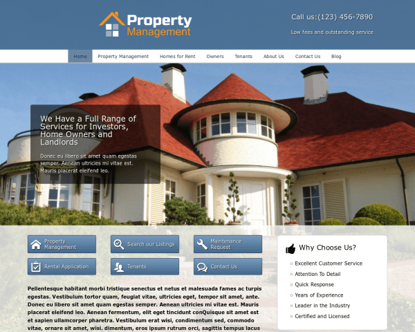 Property Management Wordpress Theme