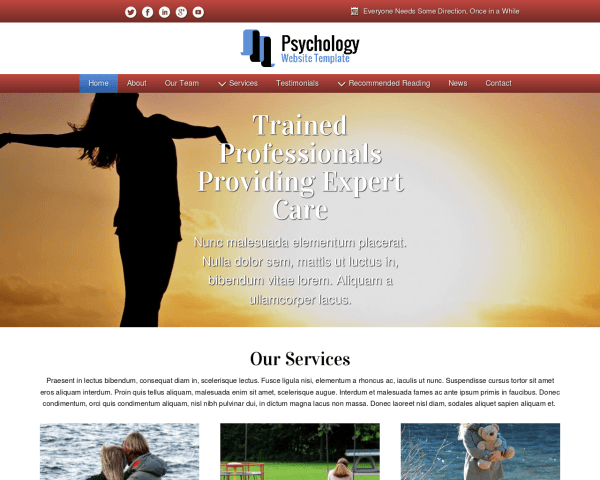 Psychology Website Template
