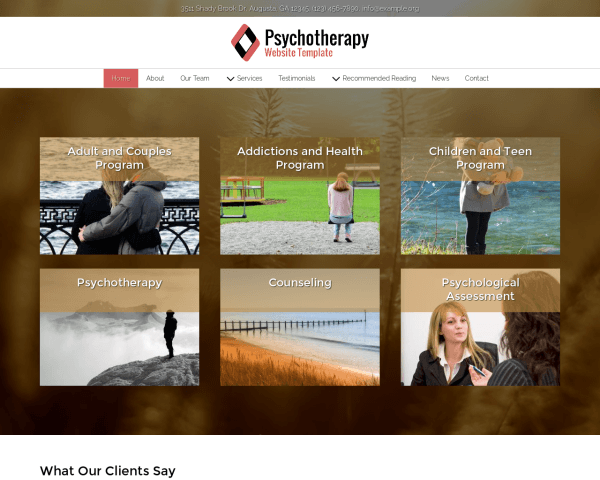Psychotherapy Website Template