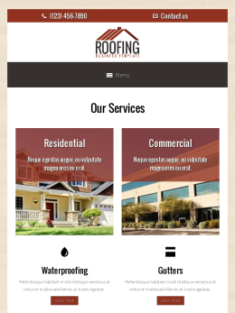 tablet screenshot WordPress theme 'Roofing WordPress theme'