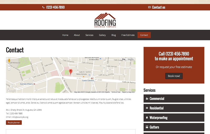 roofing wordpress theme responsive wp theme. Black Bedroom Furniture Sets. Home Design Ideas