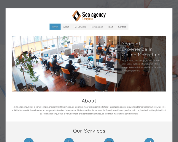 Desktop screenshot of the Seo Agency Template