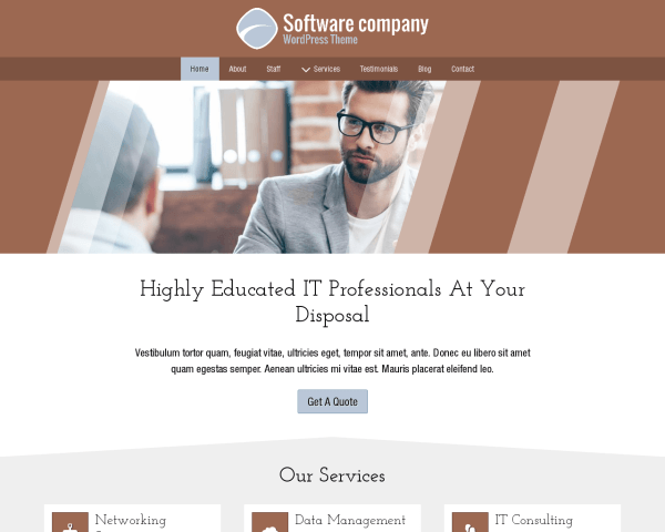 image representation of the Software Company Wordpress Theme