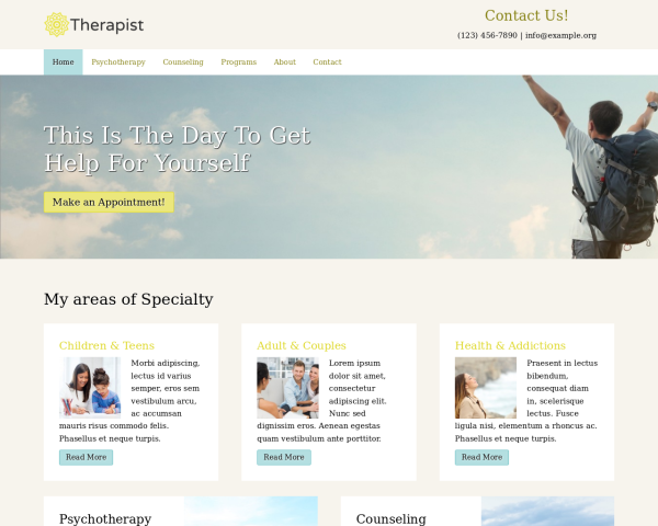 image representation of the Therapist Website Template