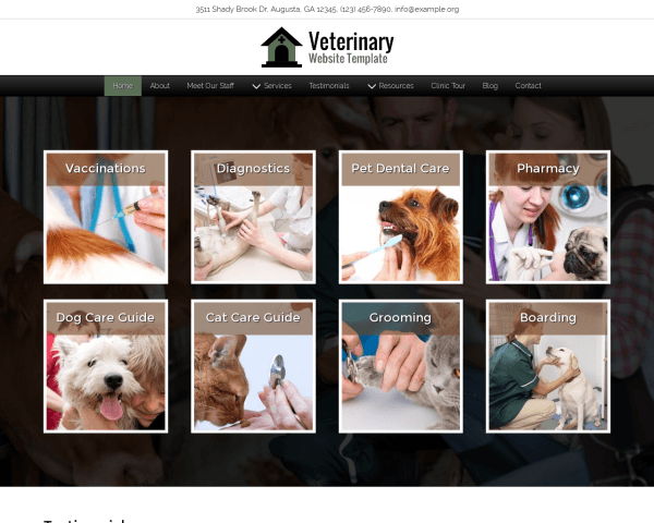 Veterinary Website Template