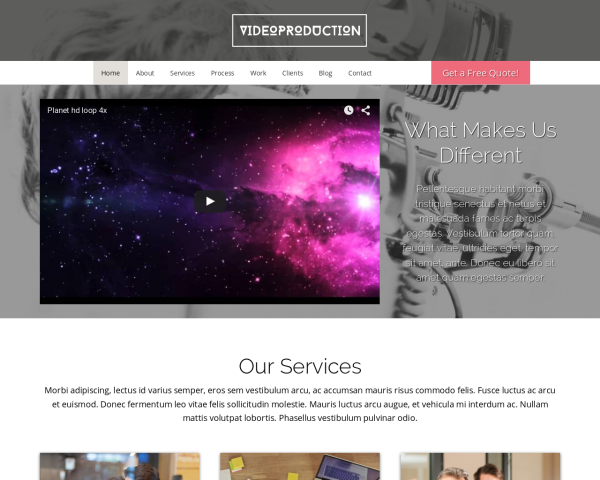 Video Production Wordpress Theme - Video Production theme