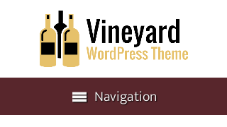 landscape iphone mobile of WordPress theme 'Vineyard Wordpress Theme'