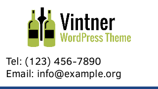 landscape iphone mobile of WordPress theme 'Vintner Wordpress Theme'