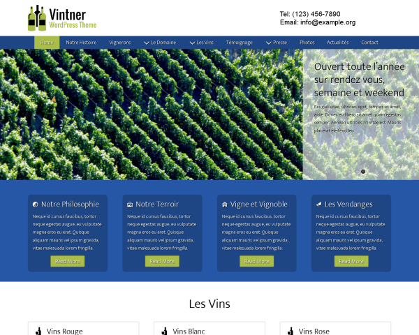 Vintner Wordpress Theme