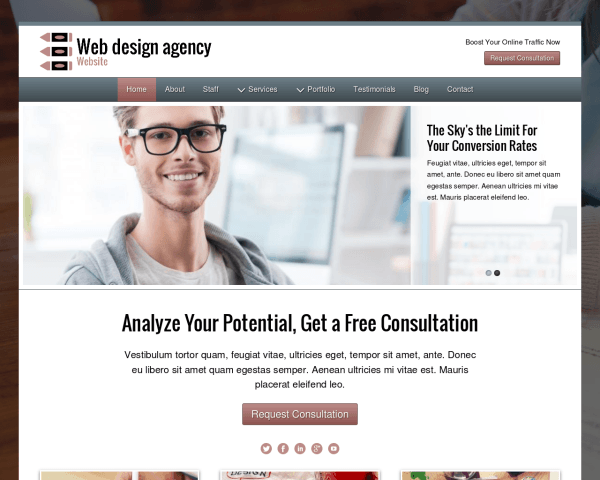 image representation of the Web Design Agency Website