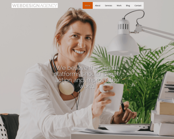 Desktop screenshot of the Web Design Agency Wordpress Theme