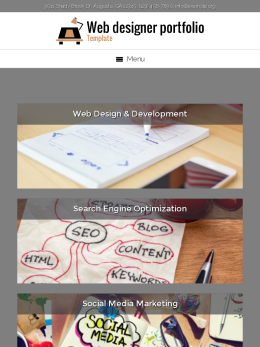 tablet screenshot WordPress theme 'Web Designer Portfolio Template'