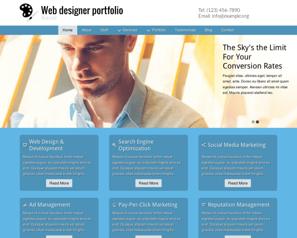 Desktop screenshot of the Web Designer Portfolio Website