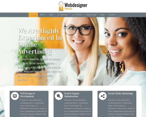 image representation of the Webdesigner Website