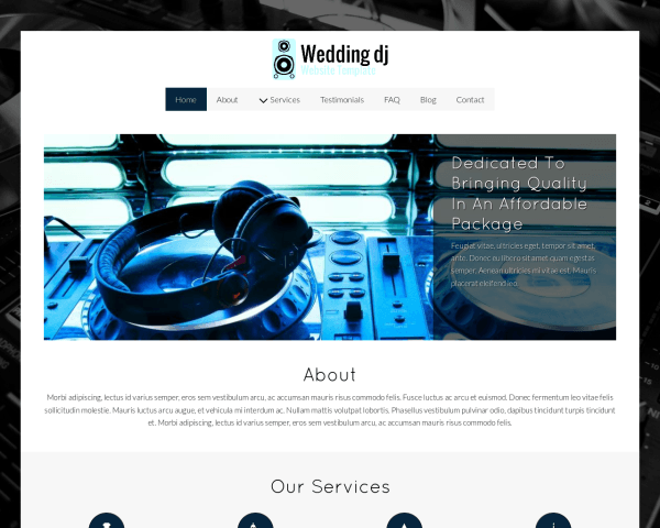 Wedding Dj Website Template