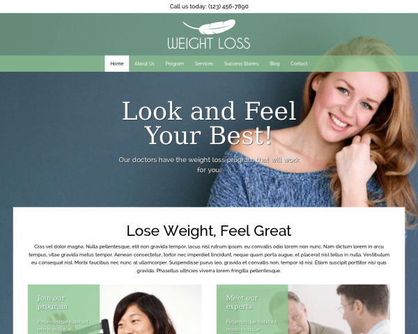 Weight Loss Wordpress Theme